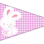 Bandeirinha Sanduiche Páscoa Coelhinho Cute Rosa 2