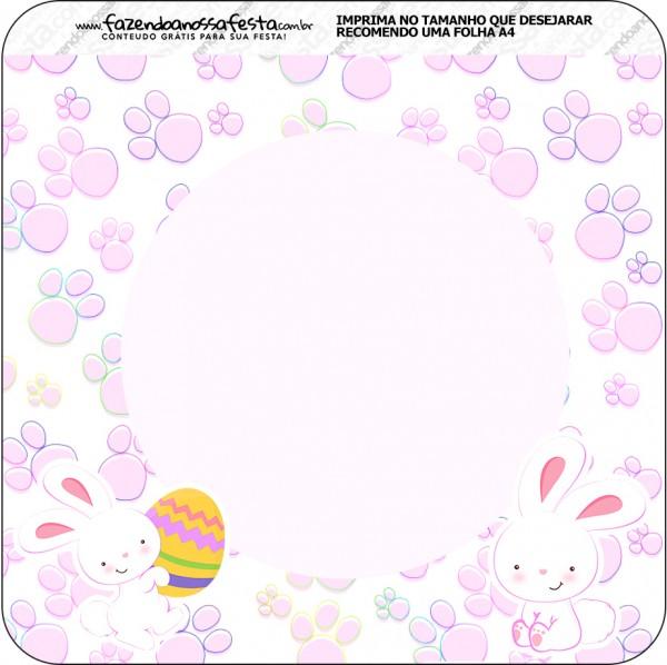 Bandeirinha Varalzinho Páscoa Coelhinho Cute Rosa 2