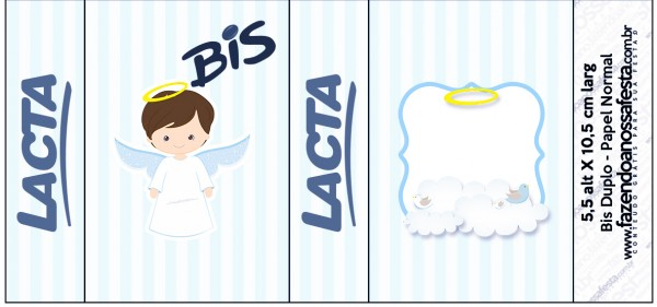Bis Duplo Batizado Azul Claro