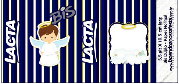 Bis Duplo Batizado Menino Azul Marinho e Branco