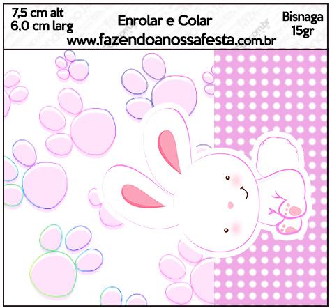 Bisnaga 15gr Páscoa Coelhinho Cute Rosa