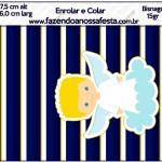 Bisnaga Brigadeiro 15 gr Batizado Azul Marinho Anjinho Loiro
