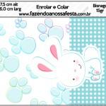 Bisnaga Brigadeiro 15gr Páscoa Coelhinho Cute Azul