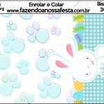 Bisnaga Brigadeiro 30gr Páscoa Coelhinho Cute Azul