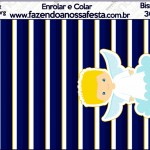 Bisnaga Brigadeiro Batizado Azul Marinho Anjinho Loiro