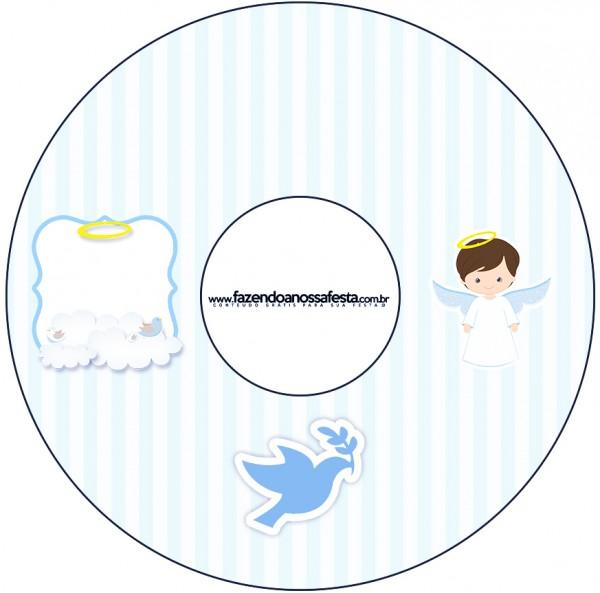 CD DVD Batizado Azul ClaroCD DVD Batizado Azul Claro