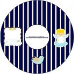 CD DVD Batizado Azul Marinho Anjinho Loiro
