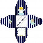 Caixa Batizado Azul Marinho Anjinho Loiro