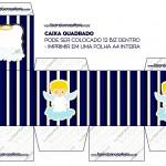 Caixa Bis Batizado Azul Marinho Anjinho Loiro