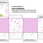 Caixa Bis Páscoa Coelhinho Cute Rosa