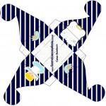 Caixa Bombom Batizado Azul Marinho Anjinho Loiro