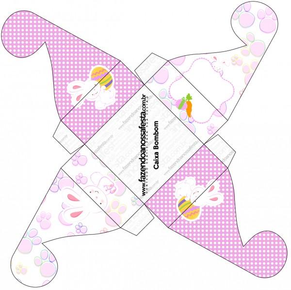 Caixa Bombom Páscoa Coelhinho Cute Rosa