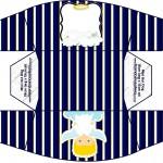 Caixa Cachorro-quente Batizado Azul Marinho Anjinho Loiro