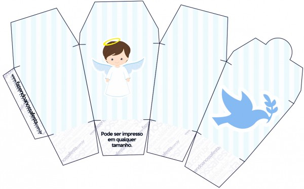Caixa China in Box Batizado Azul Claro