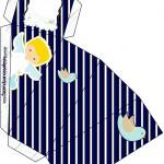 Caixa Fatia Batizado Azul Marinho Anjinho Loiro