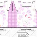Caixa Lembrancinha Páscoa Coelhinho Cute Rosa