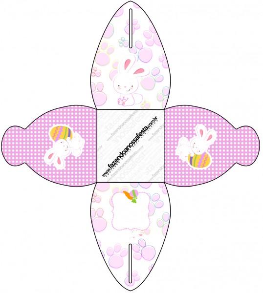 Caixa Páscoa Coelhinho Cute Rosa