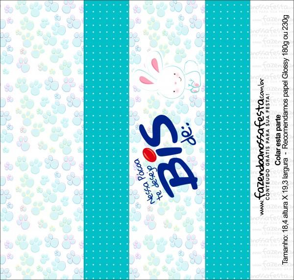 Caixa Bis Personalizada para Páscoa Menino