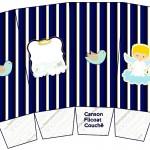 Caixa Lembrancinha Batizado Azul Marinho Anjinho Loiro