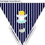 Caixa Pirâmide Batizado Azul Marinho Anjinho Loiro
