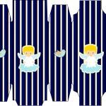 Caixa Sabonete Batizado Azul Marinho Anjinho Loiro