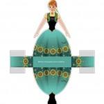Caixa Vestido Anna Frozen Febre Congelante