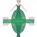 Caixa Vestido Elza Frozen Febre Congelante
