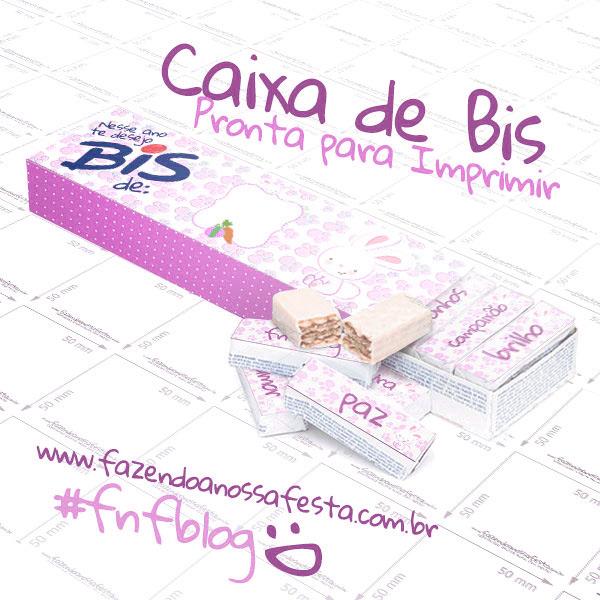 Caixa Bis Personalizada para Páscoa Menina