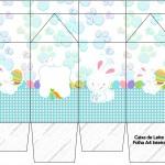 Caixa de Leite Páscoa Coelhinho Cute Azul