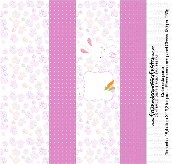 Caixa Bis Personalizada para Páscoa Menina sem escritas