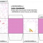 Caixa Quadrada Bis Personalizada para Páscoa Menina sem escritas