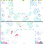Cartão Agradecimento Páscoa Coelhinho Cute Azul