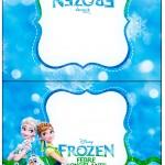 Cartão Agradecimento de Mesa Frozen Febre Congelante