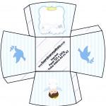 Chachepô de Mesa Batizado Azul Claro