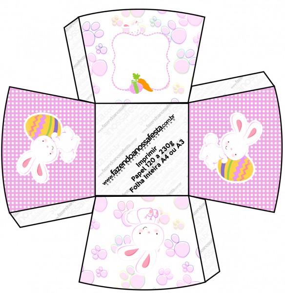 Chachepô de Mesa Páscoa Coelhinho Cute Rosa
