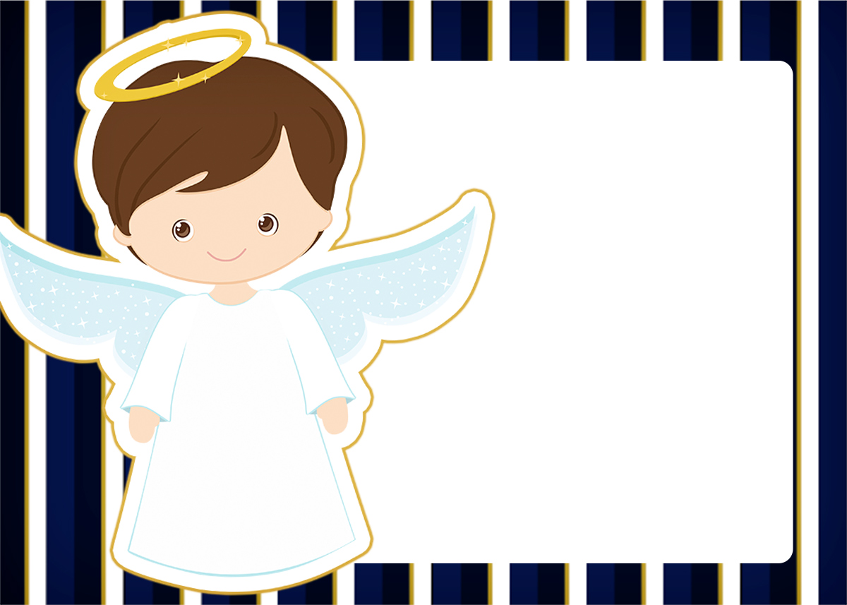 Convite 2 Batizado Menino Azul Marinho E Branco Fazendo A Nossa Festa