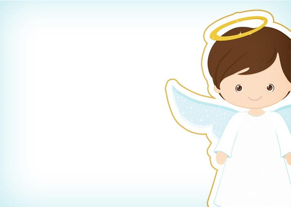 Convite 7 Batizado Menino Azul Marinho e Branco