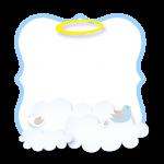 Convite 9 Batizado Azul Claro