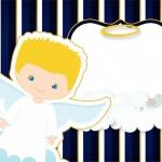 Batizado Azul Marinho Anjinho Loiro – Kit Festa Infantil!