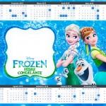 Convite Calendário 2015 Frozen Febre Congelante