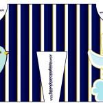 Convite Camisa Batizado Azul Marinho Anjinho Loiro