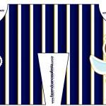 Convite Camisa Batizado Menino Azul Marinho e Branco