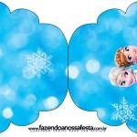 Convite Cupcake Frozen Febre Congelante