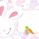 Páscoa Coelhinho Cute Rosa – Kit Festa Infantil!