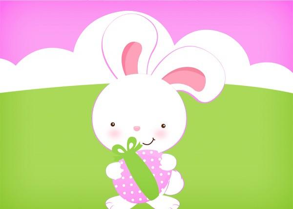 Convite Páscoa Coelhinho Cute Rosa 6