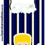 Convite Pirulito Batizado Azul Marinho Anjinho Loiro