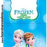 Convite Pirulito Frozen Febre Congelante