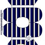 Convite Vestido Batizado Azul Marinho Anjinho Loiro