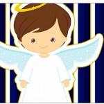 Copinho de Brigadeiro Batizado Menino Azul Marinho e Branco
