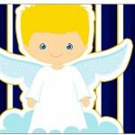 Copo Brigadeiro Batizado Azul Marinho Anjinho Loiro